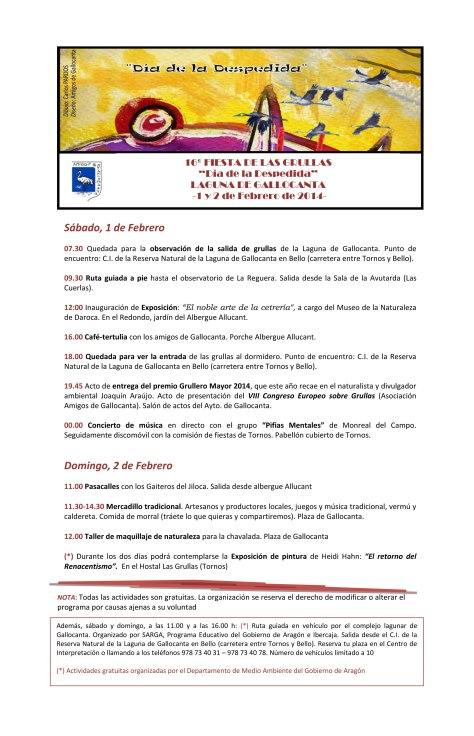 15º FESTIVAL DE LAS GRULLAS